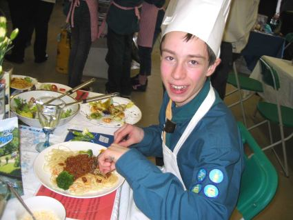 Regional Cooking Competition -  2006 - Pinkneys Green Scouts Represented Maidenhead and Berkshire