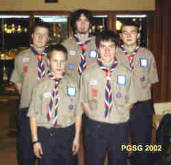 Five PG Scouts going to World Jamboree in Thailand